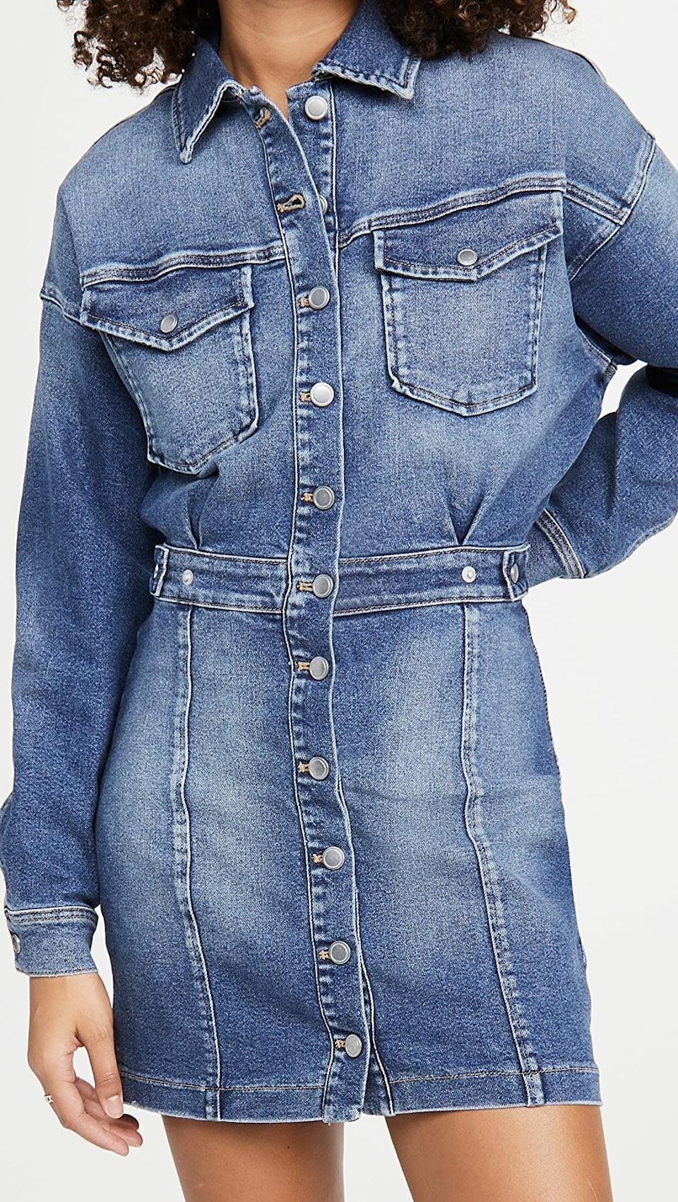 <p>Go for another wash and get this stylish <span>Good American Cinched Jacket Dress</span> ($78, originally $195).</p>