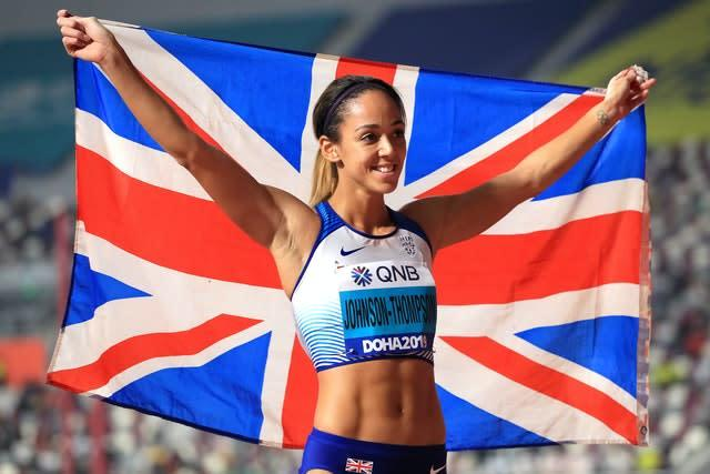 Great Britain's Katarina Johnson-Thompson's gold medal was one of only a few bright points at the World Championships (Mike Egerton/PA)