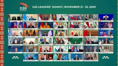 Family Photo from Today's Opening Session of the G20 Riyadh Summit (PRNewsfoto/Saudi G20 Presidency)