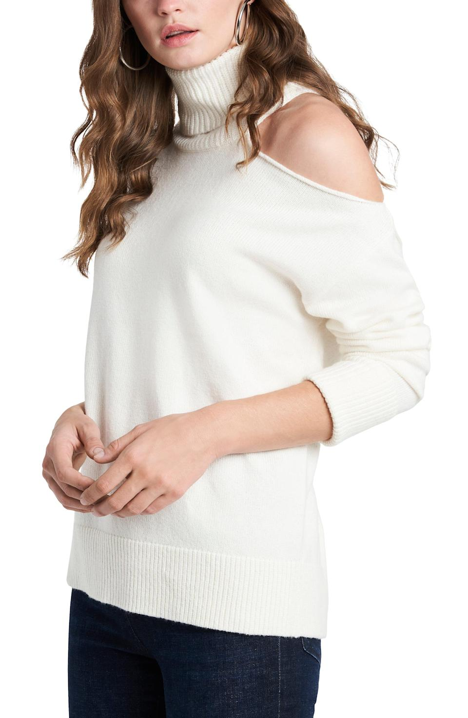 """<p><strong>1.STATE</strong></p><p>nordstrom.com</p><p><strong>$79.00</strong></p><p><a href=""""https://go.redirectingat.com?id=74968X1596630&url=https%3A%2F%2Fwww.nordstrom.com%2Fs%2F1-state-cutout-shoulder-turtleneck-sweater%2F5727530&sref=https%3A%2F%2Fwww.womenshealthmag.com%2Flife%2Fg37511825%2Fbest-fall-sweaters%2F"""" rel=""""nofollow noopener"""" target=""""_blank"""" data-ylk=""""slk:Shop Now"""" class=""""link rapid-noclick-resp"""">Shop Now</a></p><p>Every turtleneck lover <em>needs</em> a sweater like this. The shoulder cutout is a great way to mix up those simple essentials in your wardrobe.</p>"""