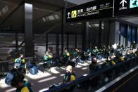 Australian softball national team players arrive in Japan for the Tokyo 2020 Olympic Games