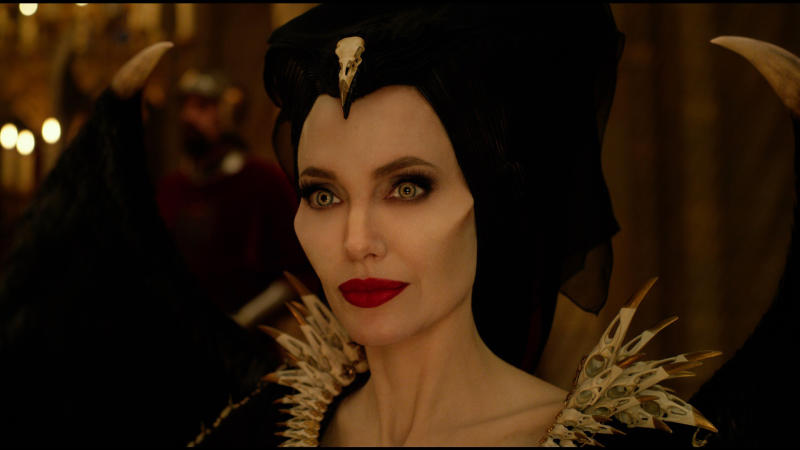 Because of Maleficent's own aversion to iron, no metals were used in the creation of Jolie's costumes (Photo: Disney)