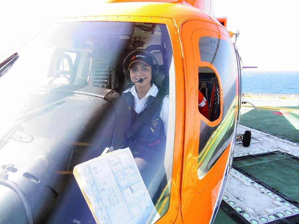 Nazneem is the only female pilot in Hevilift Malaysia.