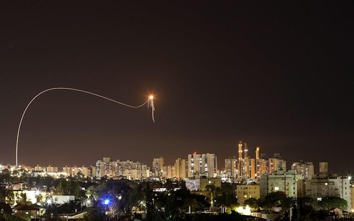 File image of the Iron Dome Missile defence system intercepting a Hamas rocket during the May 2021 Gaza conflict - Reuters/Amir Cohen