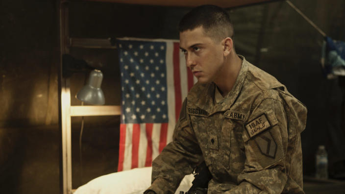 Nat Wolff in 'The Kill Team'. (Credit: A24)