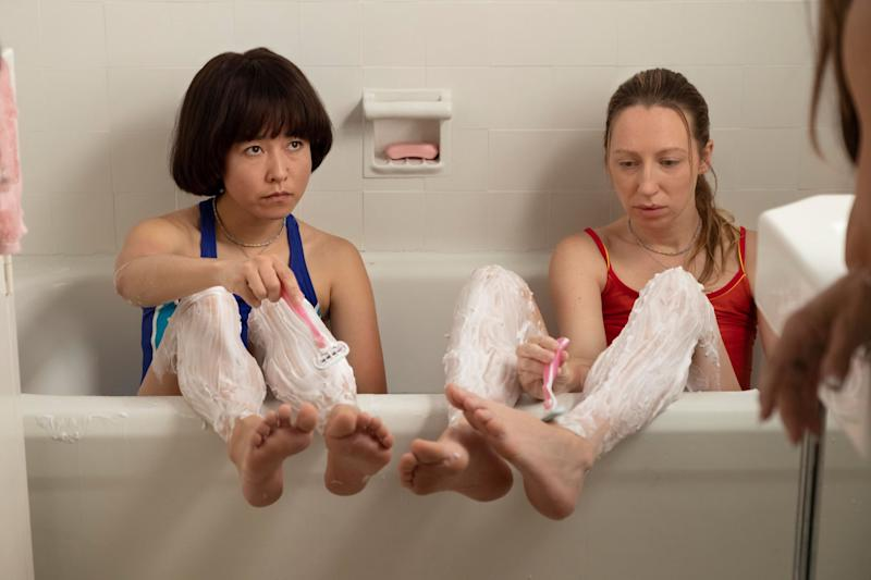 PEN15, from left: Maya Erskine, Anna Konkle, 'Dance', (Season 1, ep. 110, airs Feb. 8, 2019). photo: Alex Lombardi / Hulu / Courtesy: Everett Collection