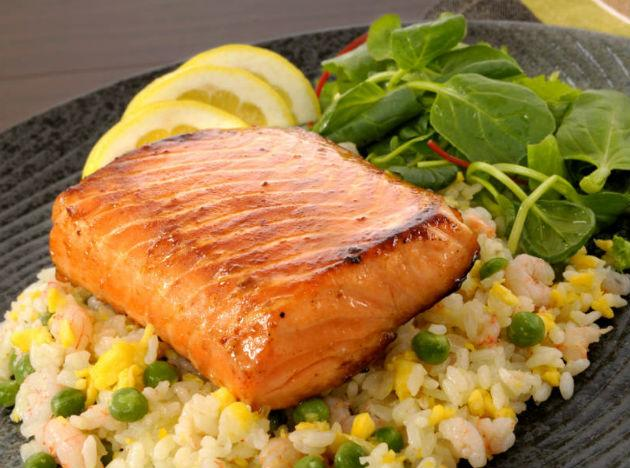 <b>Salmon, tuna and mackerel,</b> in addition to being a great source of omega-3 fatty acids, also improve metabolism and help burn fat faster by improving the body's glucose-insulin response.