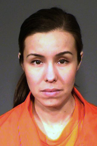 FILE - This undated file photo provided by the Arizona Department of Corrections shows Jodi Arias, who is serving a life sentence for her murder conviction in the 2008 death of her former boyfriend Travis Alexander. The Arizona Court of Appeals is scheduled on Thursday, Oct. 17, 2019, to hear Arias' appeal of her conviction. (Arizona Department of Corrections via AP, File)