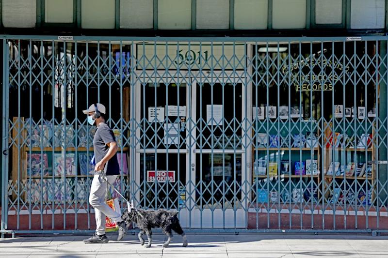 LOS ANGELES, CA -- APRIL 21: Counterpoint Records & Books, owned by John and Susan Polifronio, on Tuesday, April 21, 2020, in Los Angeles, CA. Mom and pop shop that's being overlooked by federal small business loan program. Coronavirus business struggling. (Gary Coronado / Los Angeles Times)