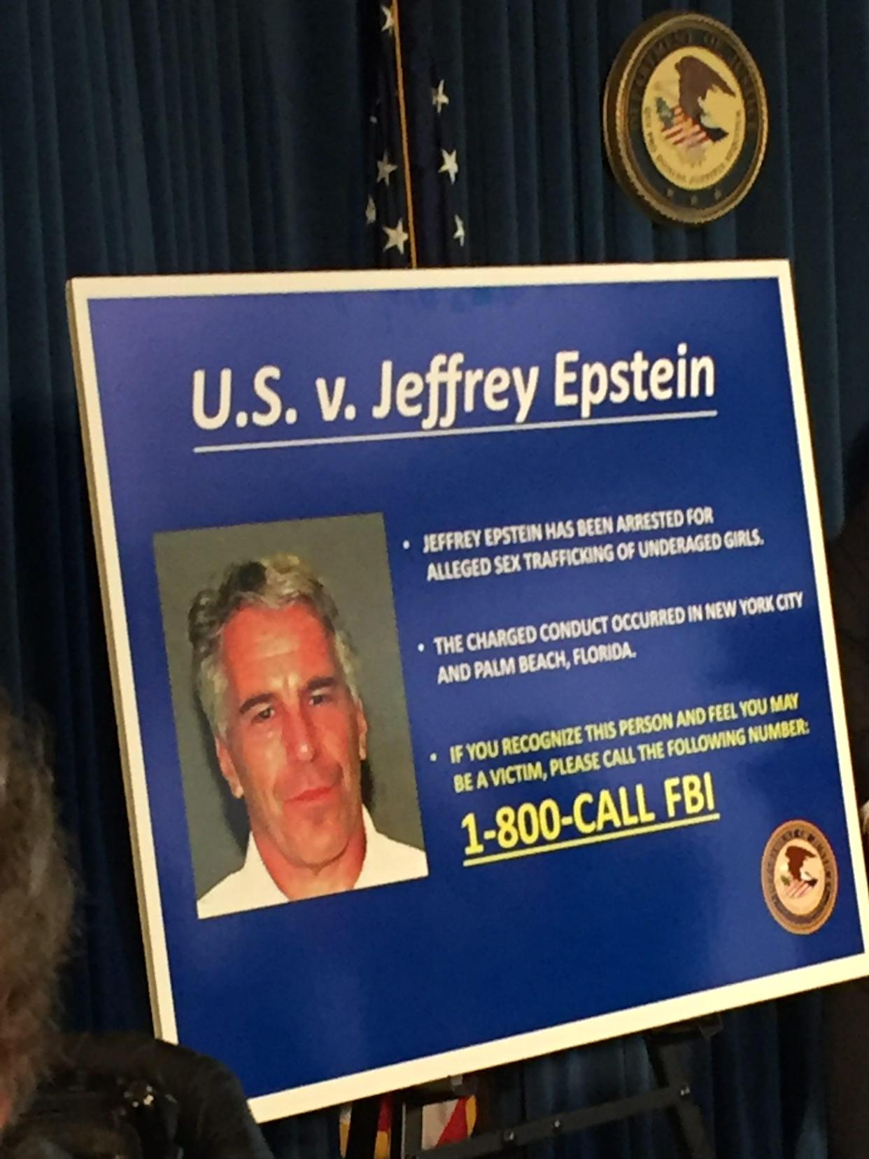 Jeffrey Epstein faces charges of sex trafficking and conspiracy.
