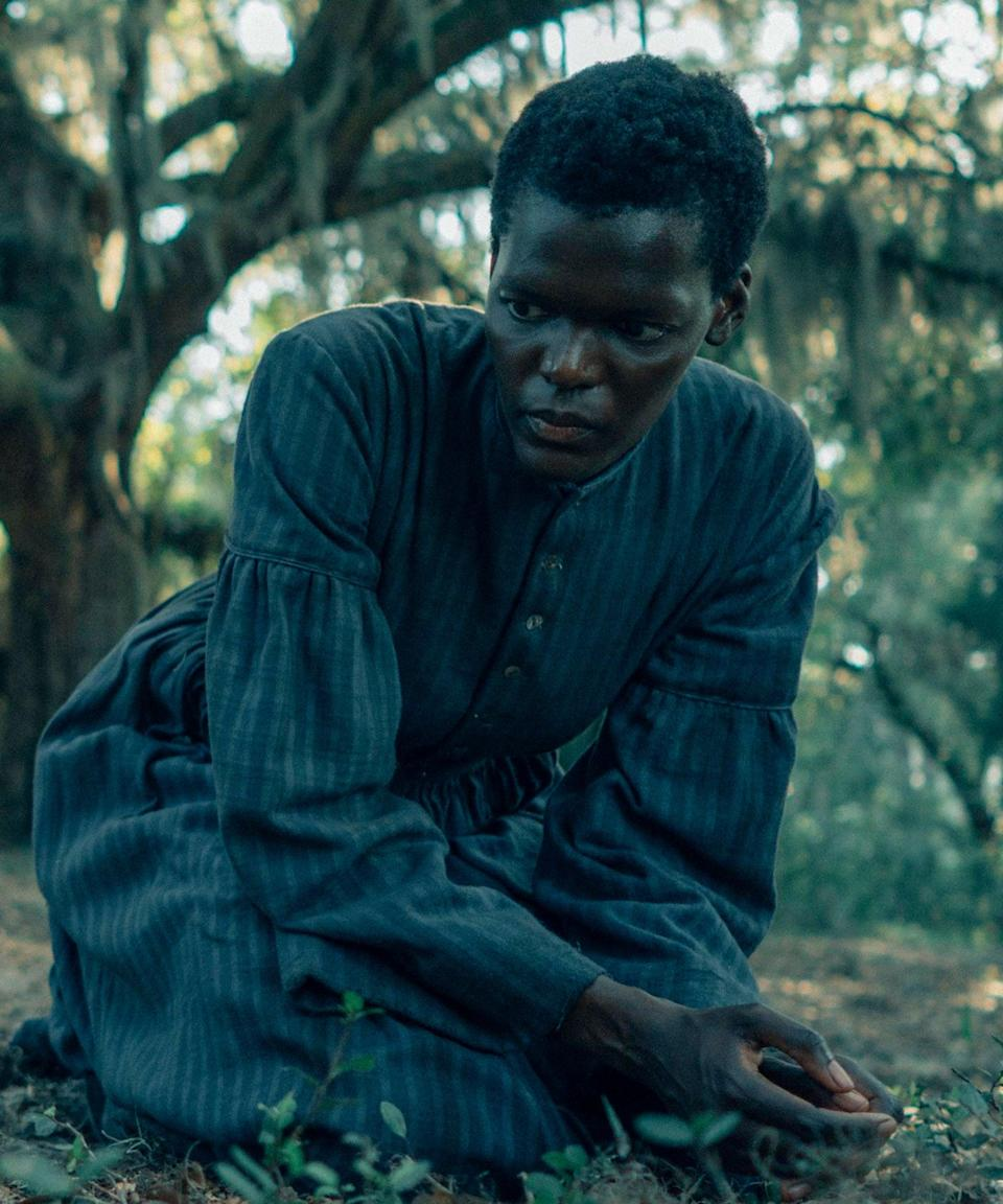 """<h2>Sheila Atim plays Mabel<br></h2><br>Mabel is Cora's mother, a woman who escaped the Randall plantation in Cora's youth and, subsequently, Ridgeway's grasp. Mabel is infamous among the Randall plantation slaves as a selfish, careless person to leave her only daughter behind in search of freedom. Her lack of a presence weighs heavy on Cora, who vows to beat Mabel should the two ever meet again.<br><br>The British-both Atim is another actor whose first love is the stage, having starred in various Shakespearean plays including <em>The Tempest, Henry IV </em>and<em> Othello</em>. She's also starred in <em>Girl from the North Country</em> as Marianne Laine.<span class=""""copyright"""">Photo: Courtesy of Amazon Studios.</span>"""