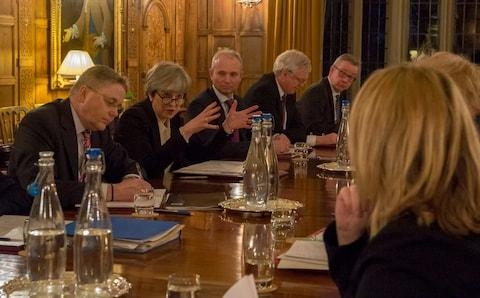 Prime Minister Theresa May meets with Cabinet Minister at Chequers - Credit: Jay Allen/Downing Street