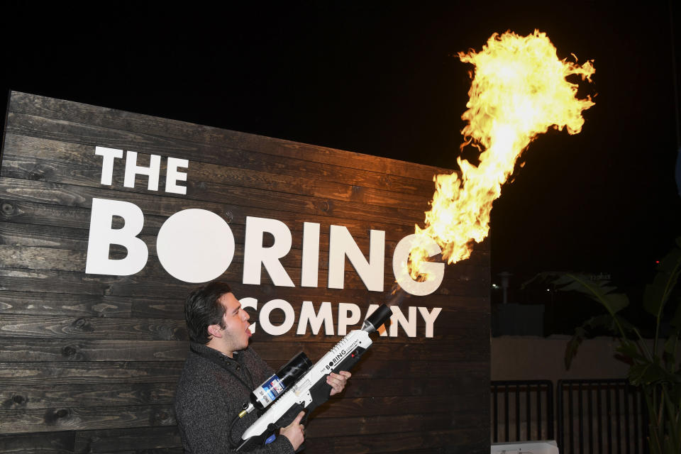 The Boring Company. (Foto: Robyn Beck/Pool Photo via AP)