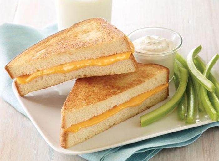 Grilled cheese lunch