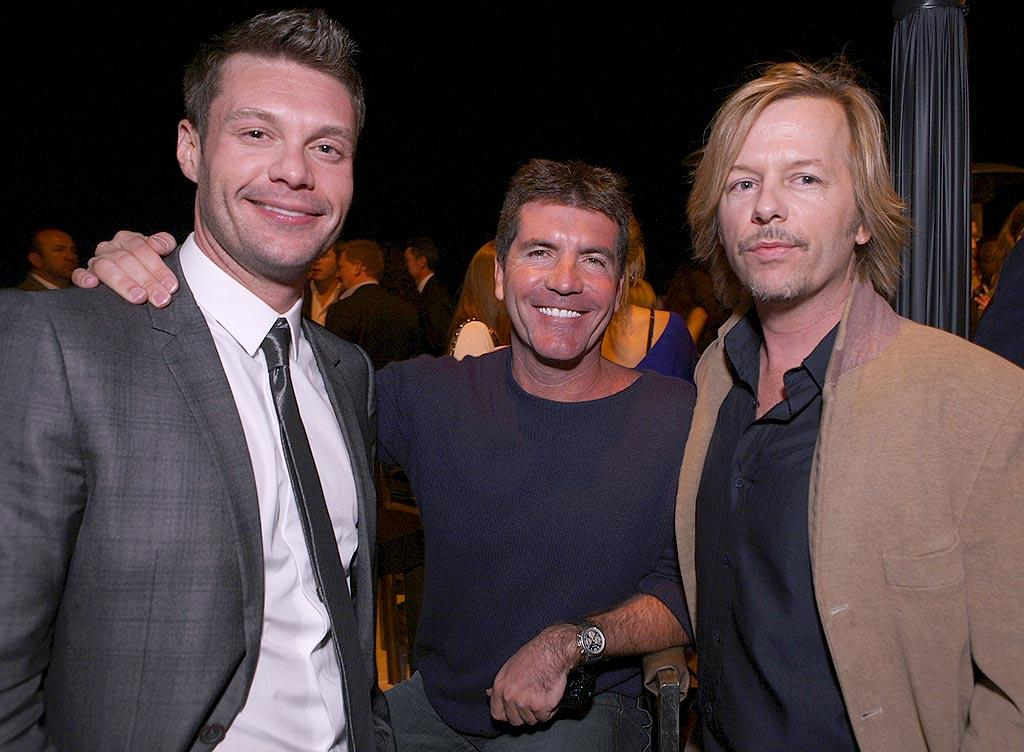 """Funnyman David Spade joins BFFs Ryan and Simon for some male bonding. Chris Weeks/<a href=""""http://www.wireimage.com"""" target=""""new"""">WireImage.com</a> - March 20, 2008"""