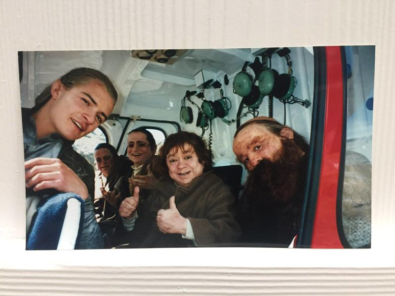 Bloom in a helicopter with some of the film's stunt doubles. (Credit: Orlando Bloom / Facebook)