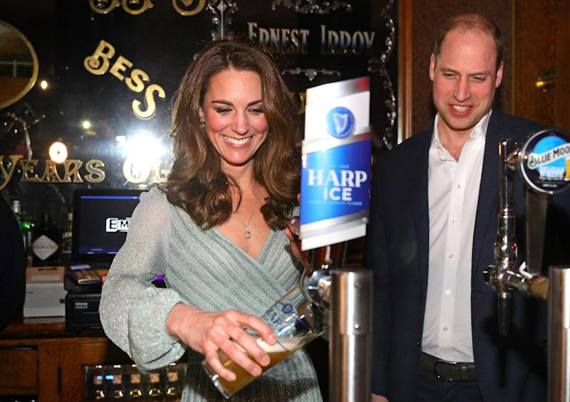 "Image result for PRINCE William and Kate Pull Pints in Belfast, , ""Feb 28, 2019"""