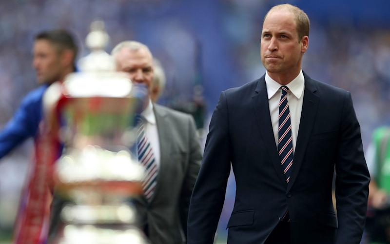 The Duke of Cambridge during the Emirates FA Cup Final at Wembley this year - PA