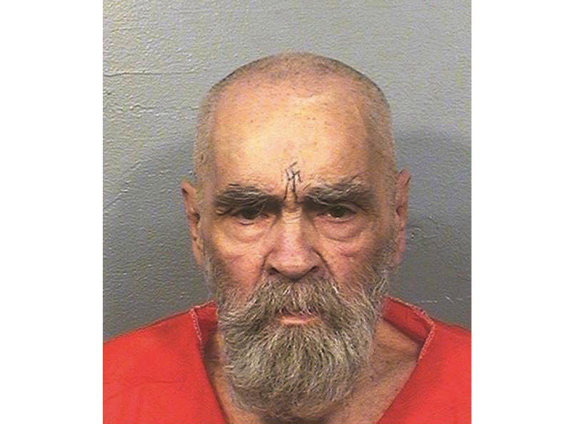 FILE - This Aug. 14, 2017 file photo provided by the California Department of Corrections and Rehabilitation shows Charles Manson. Fifty years ago Charles Manson dispatched a group of disaffected young hippie followers on a two-night killing spree that terrorized Los Angeles and in the years since has come to represent the face of evil. On successive nights in August 1969, the so-called Manson family murdered seven people. Manson died in prison on Nov. 19, 2017. (California Department of Corrections and Rehabilitation via AP, File)