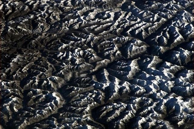 The Rockies are beautiful, and very much so from orbit - What an amazing view! (photo taken 30 Dec 12)