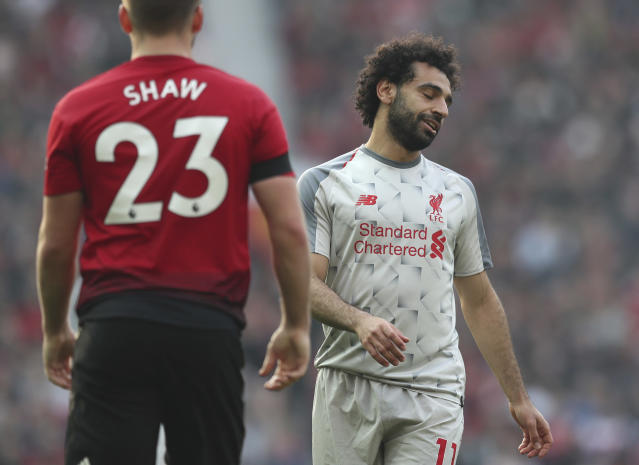 Mohamed Salah and Liverpool have a great chance to win at Manchester United this Sunday. (AP)