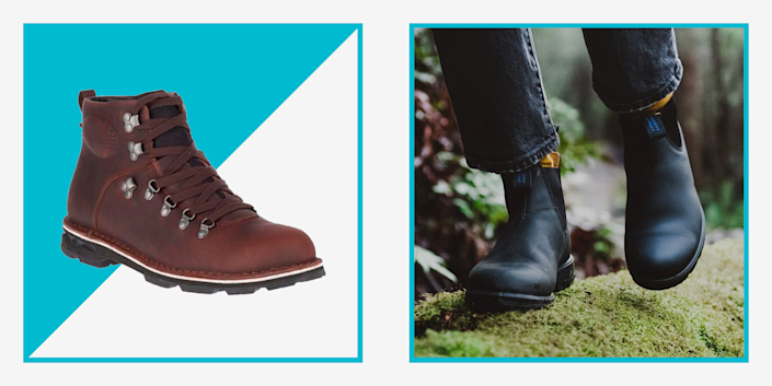 """<p>Even in the pouring rain, you want to look good—but more often than not, rain boots are associated with uncomfortable, bulky shoes that leave your <a href=""""https://www.menshealth.com/style/g19540404/best-mens-socks/"""" rel=""""nofollow noopener"""" target=""""_blank"""" data-ylk=""""slk:socks"""" class=""""link rapid-noclick-resp"""">socks</a> damp and your day ruined. Thankfully, there are endless options for <a href=""""https://www.menshealth.com/style/g36190128/waterproof-shoes-for-men/"""" rel=""""nofollow noopener"""" target=""""_blank"""" data-ylk=""""slk:waterproof shoes"""" class=""""link rapid-noclick-resp"""">waterproof shoes</a> that are <em>also</em> comfortable. Some aren't even really boots, but more like <a href=""""https://www.menshealth.com/style/g37081969/nordstroms-anniversary-sale-best-sneakers/"""" rel=""""nofollow noopener"""" target=""""_blank"""" data-ylk=""""slk:sneakers"""" class=""""link rapid-noclick-resp"""">sneakers</a>, which means there are rain shoes for every situation. Plus, if you still want them, the big, classic slosh-around-in-puddles type of boots have decent options, too.</p><p>But, as you start shopping for your next pair of rain boots or waterproof shoes, there are some things to keep in mind.</p><h2 class=""""body-h2"""">Activity</h2><p>When searching for the right rain boot, consider what you intend to use them for. A leisurely walk, a hike in the midst of a torrential shower, or <a href=""""https://www.menshealth.com/technology-gear/g33985213/best-commuter-bikes/"""" rel=""""nofollow noopener"""" target=""""_blank"""" data-ylk=""""slk:the daily commute to work"""" class=""""link rapid-noclick-resp"""">the daily commute to work</a>? Those searching for a casual shoe for work or walking may prefer ankle-height boots, which are easier to wear for longer bouts of time. Anyone wading through mud, hunting, <a href=""""https://www.menshealth.com/technology-gear/g32746579/best-fishing-rods-reels/"""" rel=""""nofollow noopener"""" target=""""_blank"""" data-ylk=""""slk:fishing"""" class=""""link rapid-noclick-resp"""">fishing</a>, or doing any outdoor work will want heavy-dut"""
