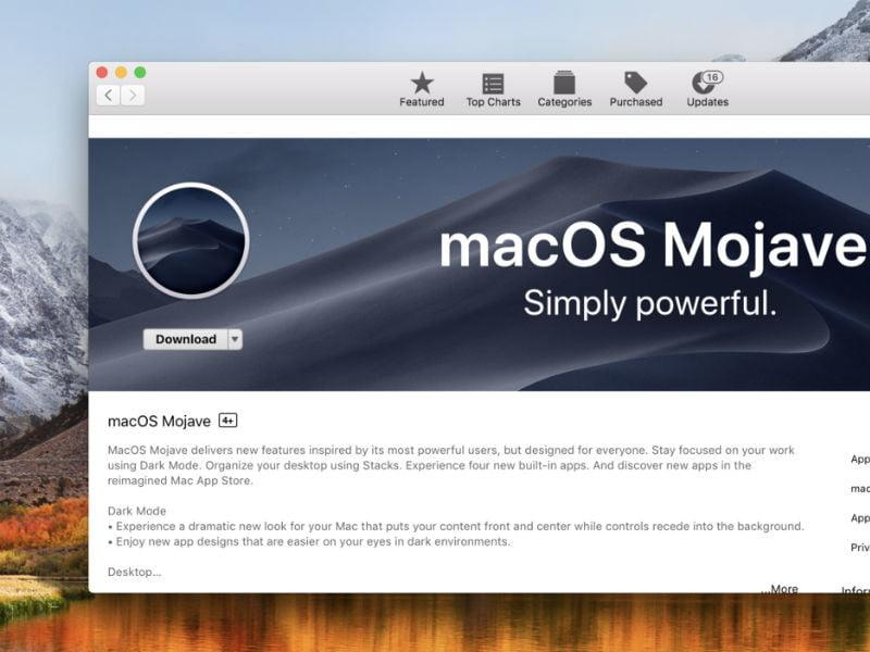 How to download and install the MacOS Mojave
