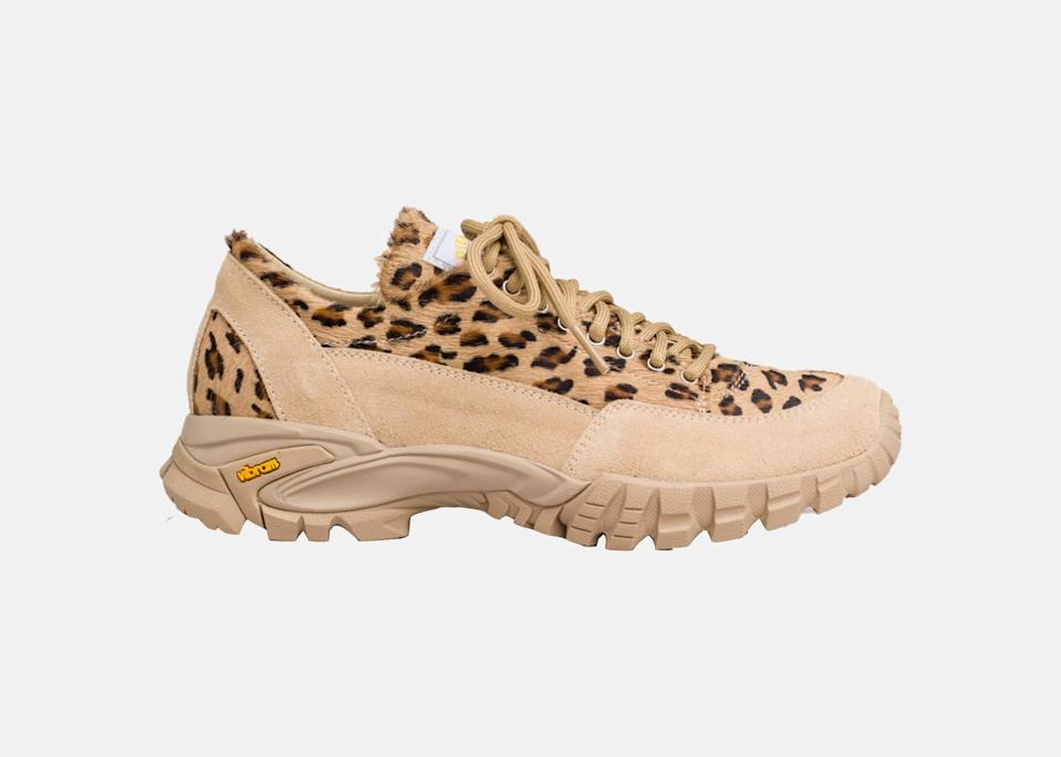 "I just bought these low <a href=""https://www.cntraveler.com/story/best-hiking-boots-for-women?mbid=synd_yahoo_rss"" rel=""nofollow noopener"" target=""_blank"" data-ylk=""slk:hiking boots"" class=""link rapid-noclick-resp"">hiking boots</a> from the Italian hiking and mountaineering brand Diemme. I am fully aware that I'm going to get some looks out on the trails, but I don't care. I like the leopard pattern and the neutral beige color (it's a pet peeve of mine that so many outdoor brands give women the teal and purple options). I know I'm going to wear these off the trail as much as on it. $414, Diemme. <a href=""https://www.diemme.com/shop/possagno-leo-haircalf-sneakers/"" rel=""nofollow noopener"" target=""_blank"" data-ylk=""slk:Get it now!"" class=""link rapid-noclick-resp"">Get it now!</a>"