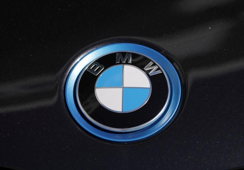 FILE PHOTO: The BMW logo is seen on a car in Nice