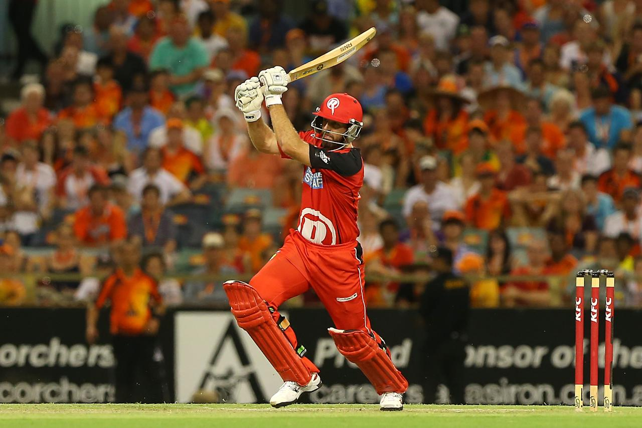 PERTH, AUSTRALIA - DECEMBER 29:  Ben Rohrer of the Renegades hits out during the Big Bash League match between the Perth Scorchers and the Melbourne Renegads at WACA on December 29, 2012 in Perth, Australia.  (Photo by Paul Kane/Getty Images)