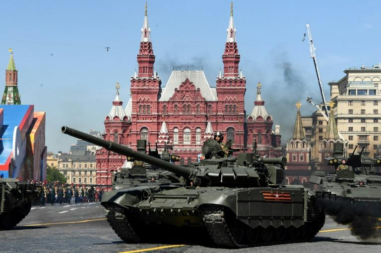 The tanks used for the romantic manoeuvre also take part in the annual Victory Parade on Red Square