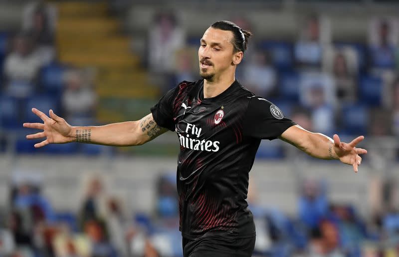 Ibrahimovic on target as Milan severely dent Lazio title hopes