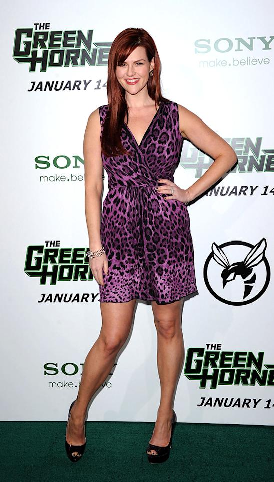 """<a href=""""http://movies.yahoo.com/movie/contributor/1804495349"""">Sara Rue</a> attends the Los Angeles premiere of <a href=""""http://movies.yahoo.com/movie/1808411967/info"""">The Green Hornet</a> on January 10, 2011."""