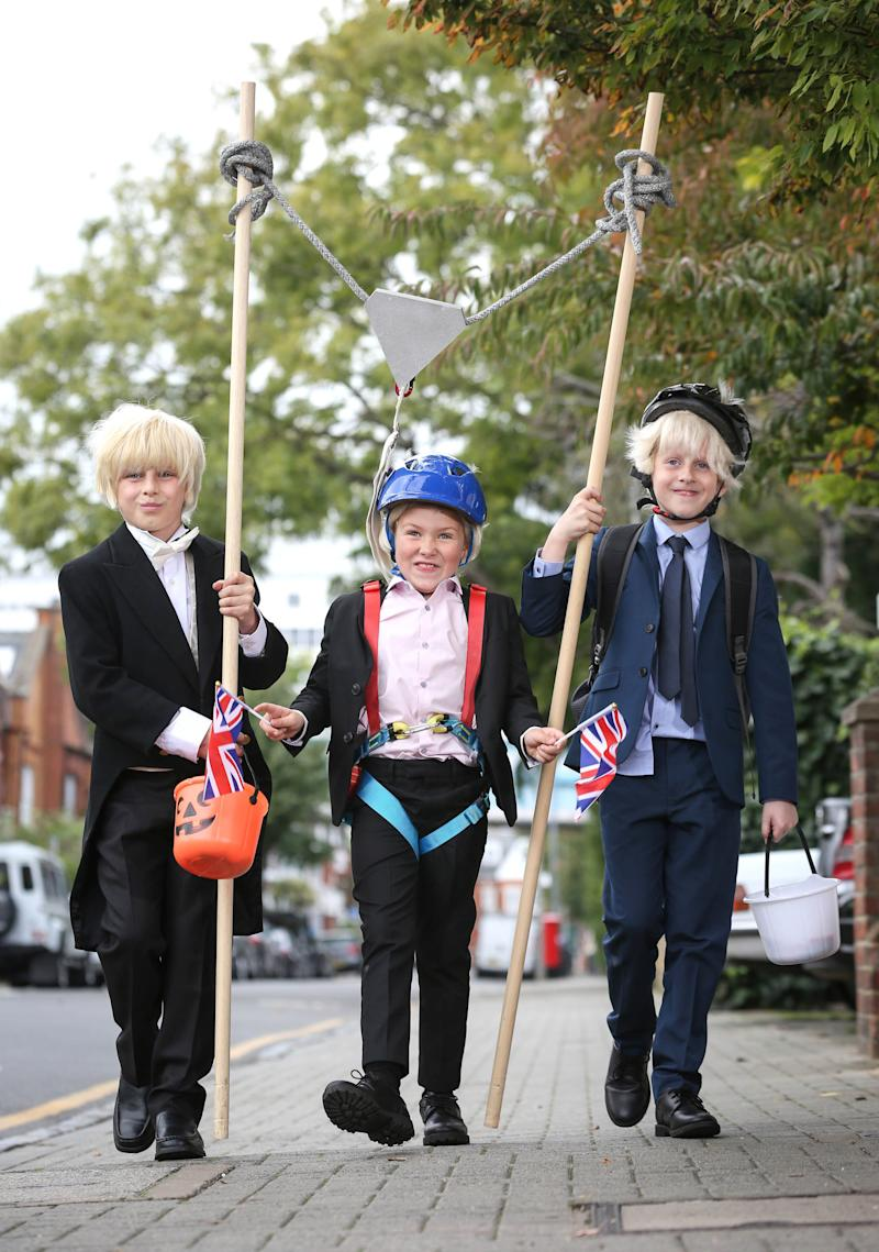 Boris Johnson came in the top 20 of Halloween costumes for kids this year [Photo: Matt Alexander/PA Images]