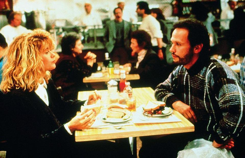 """<a href=""""http://movies.yahoo.com/movie/when-harry-met-sally/"""" data-ylk=""""slk:WHEN HARRY MET SALLY..."""" class=""""link rapid-noclick-resp"""">WHEN HARRY MET SALLY...</a> (1989) <br> Directed by: <span>Rob Reiner</span> <br>Starring: <span>Billy Crystal</span>, <span>Meg Ryan</span> and <span>Carrie Fisher</span>"""