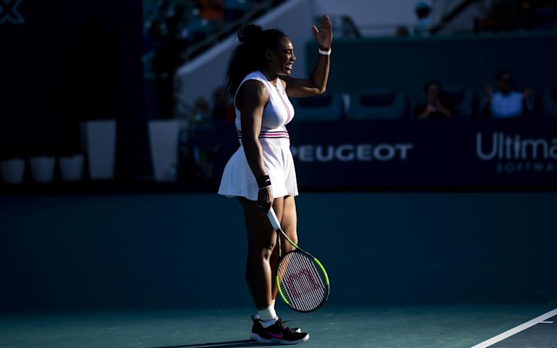 Serena Williams was forced to withdraw from the Miami Open with a knee injury - Getty Images North America
