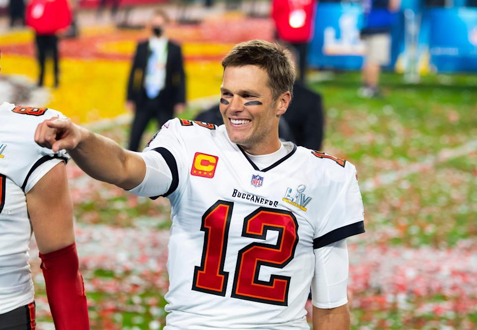"""Tom Brady received his fourth nomination for """"Best Athlete, Men's Sports"""" and 10th nomination for """"Best NFL Player"""" ahead of the 2021 ESPYS after winning Super Bowl LV."""