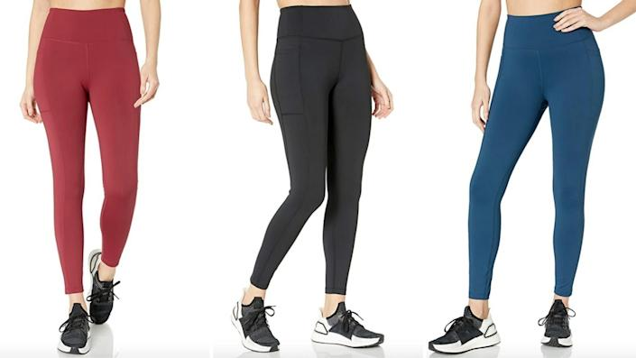 "Use code <strong>HUFFPOST20</strong> on <a href=""https://amzn.to/3g6tMOu"" rel=""nofollow noopener"" target=""_blank"" data-ylk=""slk:Amazon's beloved Core10 high-waist leggings"" class=""link rapid-noclick-resp"">Amazon's beloved Core10 high-waist leggings </a> to get them for 20% off, for just $20. (Photo: Amazon)"