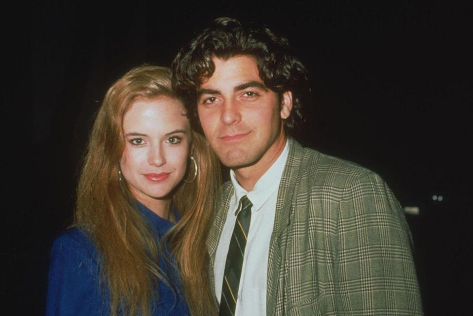 <p>Clooney and Kelly Preston, whom he dated and lived with, photographed together in 1985.</p>