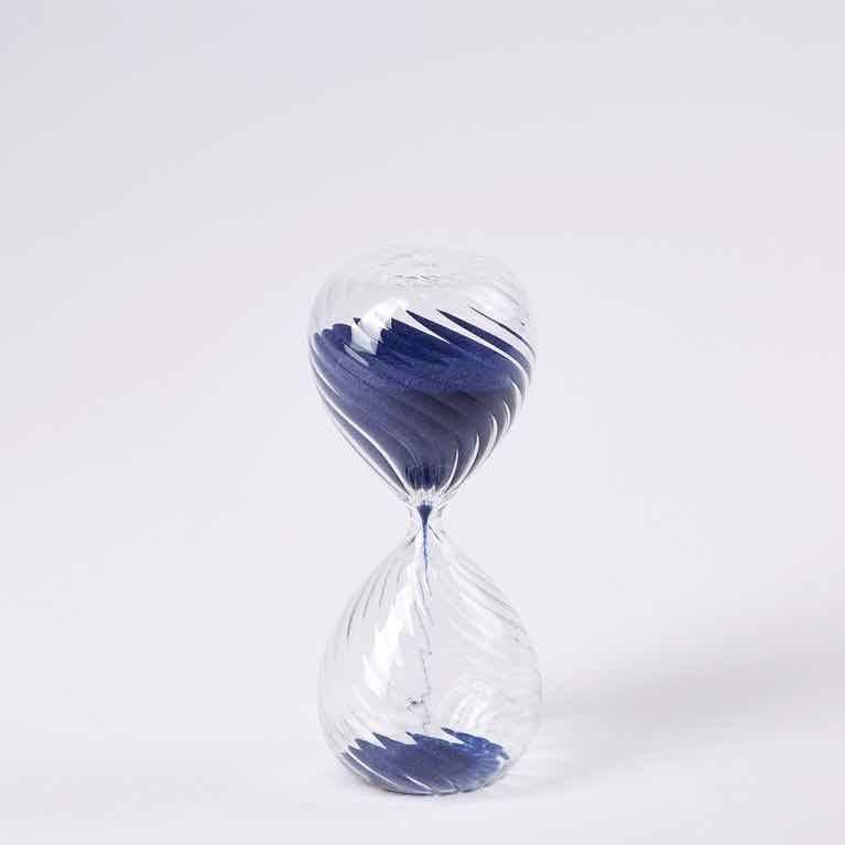 """<p>Encourage 10 minutes of mindfulness during your workday with this modern interpretation of an hour glass by Pols Potten – available at The Conran Shop. The sand in classic Yves Klein blue is a chic touch. £20, <a href=""""https://www.conranshop.co.uk/cx-pols-potten-optic-sandtimer-10-min.html"""" rel=""""nofollow noopener"""" target=""""_blank"""" data-ylk=""""slk:theconranshop.co.uk"""" class=""""link rapid-noclick-resp"""">theconranshop.co.uk</a></p>"""