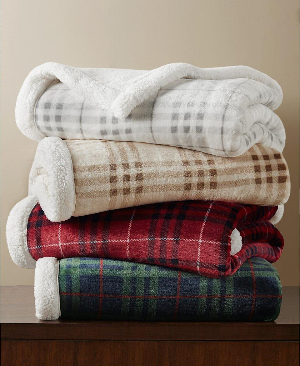 "One can never have too many warm, cozy throw blankets for the winter. Whether you're looking to dress up your arm chair for the holidays, or need a gift for the person who is always cold, you can't go wrong with these cute affordable throws. Normally $60, <a href=""https://fave.co/3lh9JzG"" target=""_blank"" rel=""noopener noreferrer"">get them on sale for $20</a> on Cyber Monday at Macy's."