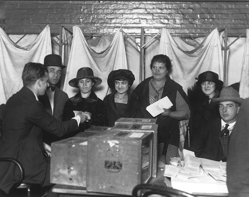 Women cast their first votes for president in November 2020. (Getty Images)