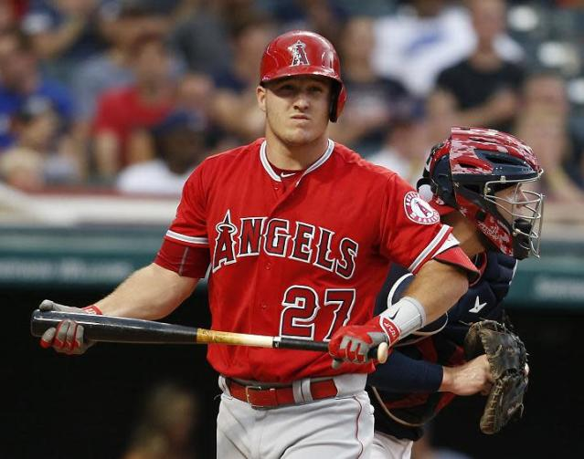 Would trading Mike Trout provide the best hope for the Angels future? (AP)