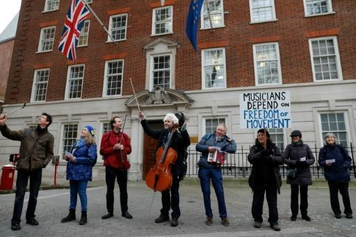 Wallfisch joined supporters playing Beethoven's Ode to Joy outside Europe House in London's Smith Square to highlight his accepted application for German citizenship over fears Brexit's effect on freedom of movement, including that of musicians