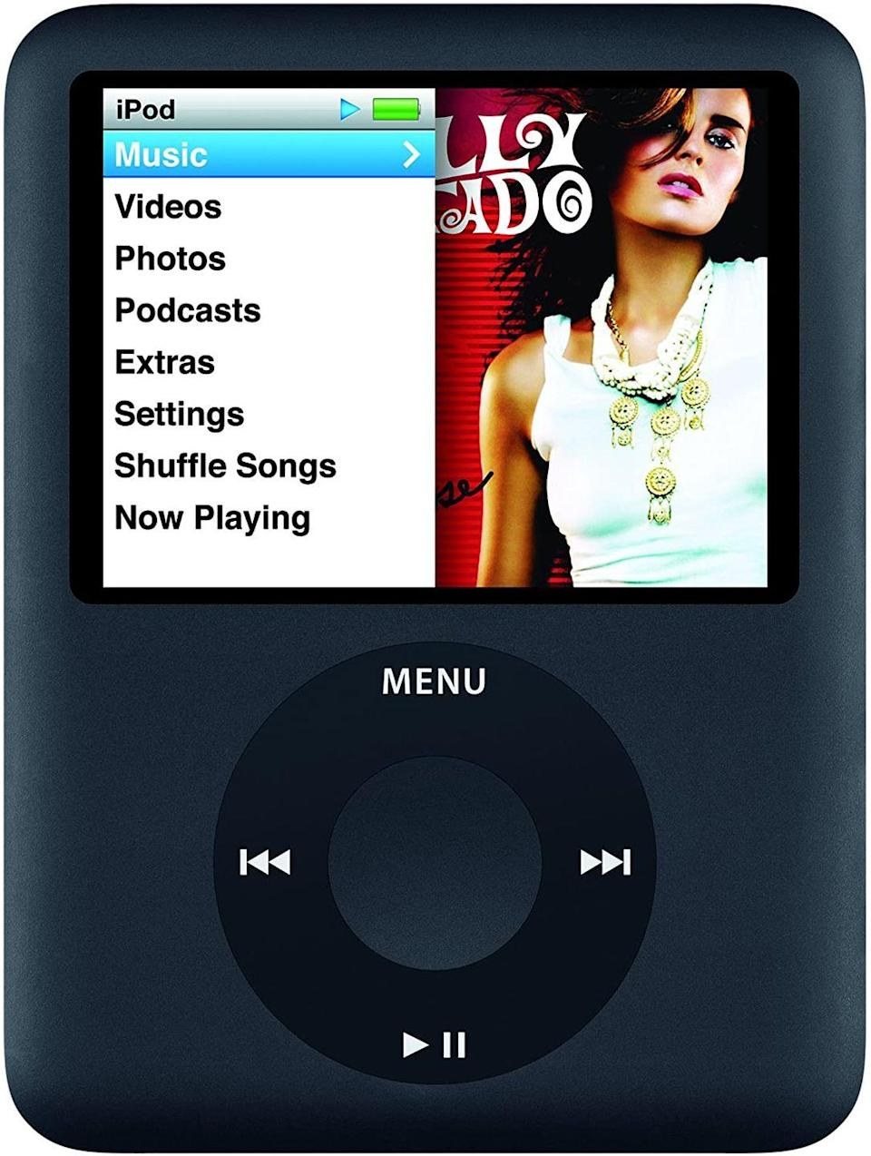 "<p>The life-changing music device doesn't go for much as you would think. But if you never opened yours from the package (who hurt you?!), a nice <a href=""https://www.ebay.com/itm/New-Rare-Factory-Sealed-Apple-iPod-nano-8-GB-Blue-3rd-Generation-MB249LL-A/274360876086?epid=82738535&hash=item3fe12ebc36:g:eJ0AAOSw4kNetted"" rel=""nofollow noopener"" target=""_blank"" data-ylk=""slk:$1,000"" class=""link rapid-noclick-resp"">$1,000</a> could be coming to your bank account in the future. </p>"