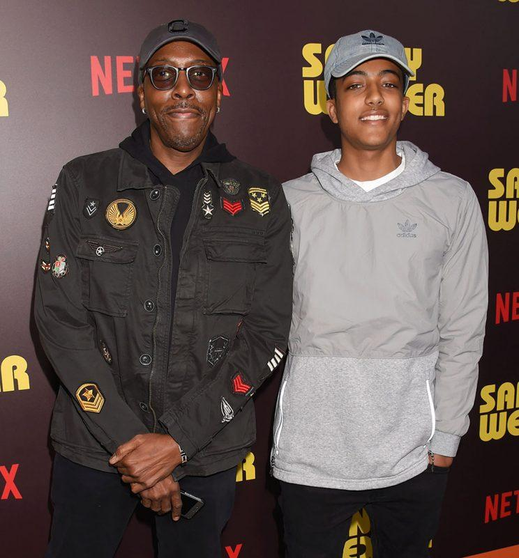 Arsenio Hall brought his son, Arsenio Hall Jr., to the Hollywood premiere of