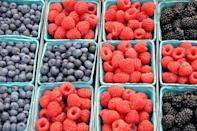 <p>Your berries have a better chance at staying fresh at room temperature. Refrigerator moisture will ruin them. It's also recommended to only wash them when you're going to eat them.</p>