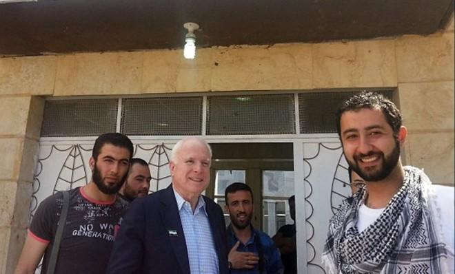 Sen. John McCain visits rebels in Syria on May 27.