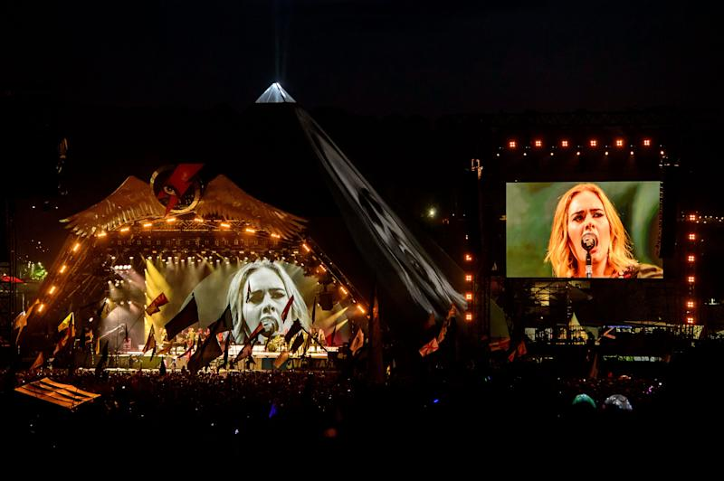 Adele played the Pyramid Stage in 2016 (Photo: Jonathan Short/Invision/AP)