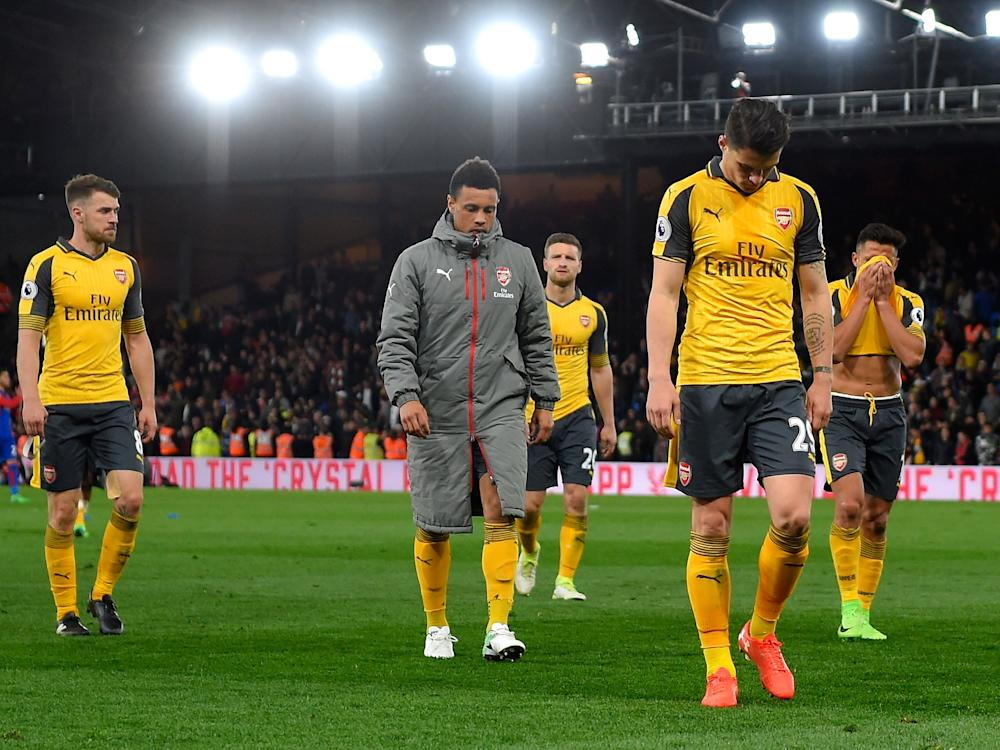 Arsenal were booed by their own fans after the final whistle: Getty